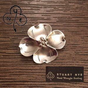Vintage Stuart Nye Sterling Silver Dogwood Pin